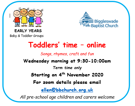 Advert for Early Years Group